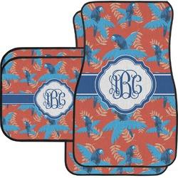 Blue Parrot Car Floor Mats Set - 2 Front & 2 Back (Personalized)