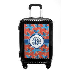 Blue Parrot Carry On Hard Shell Suitcase (Personalized)