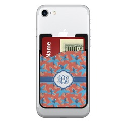 Blue Parrot 2-in-1 Cell Phone Credit Card Holder & Screen Cleaner (Personalized)