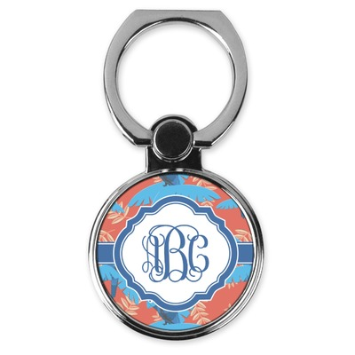 Blue Parrot Cell Phone Ring Stand & Holder (Personalized)