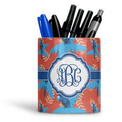 Blue Parrot Ceramic Pen Holder