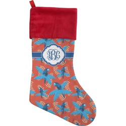 Blue Parrot Christmas Stocking (Personalized)