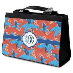 Blue Parrot Classic Tote Purse w/ Leather Trim (Personalized)