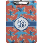 Blue Parrot Clipboard (Personalized)