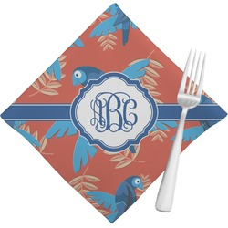 Blue Parrot Napkins (Set of 4) (Personalized)