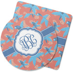 Blue Parrot Rubber Backed Coaster (Personalized)