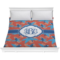 Blue Parrot Comforter - King (Personalized)