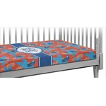 Blue Parrot Crib Fitted Sheet (Personalized)