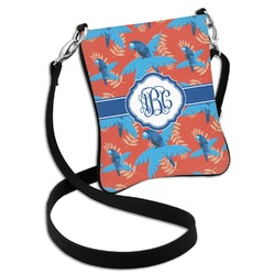Blue Parrot Cross Body Bag - 2 Sizes (Personalized)