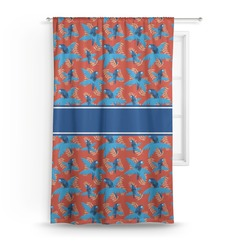 Blue Parrot Curtain (Personalized)