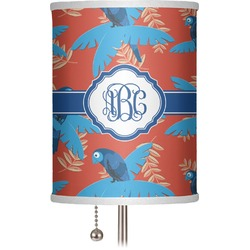 """Blue Parrot 7"""" Drum Lamp Shade (Personalized)"""