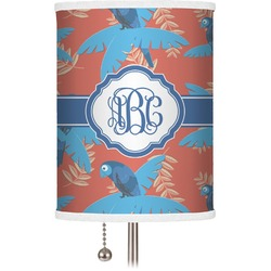 Blue Parrot Drum Lamp Shade (Personalized)