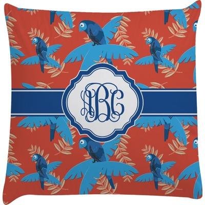 Blue Parrot Decorative Pillow Case (Personalized)