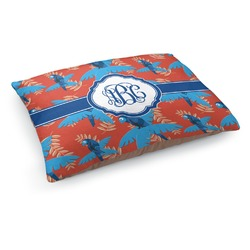 Blue Parrot Dog Pillow Bed (Personalized)