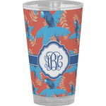 Blue Parrot Drinking / Pint Glass (Personalized)