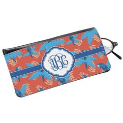 Blue Parrot Genuine Leather Eyeglass Case (Personalized)