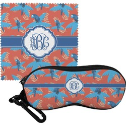 Blue Parrot Eyeglass Case & Cloth (Personalized)