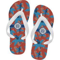 Blue Parrot Flip Flops (Personalized)