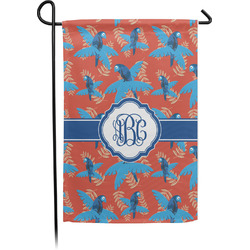 Blue Parrot Garden Flag - Single or Double Sided (Personalized)
