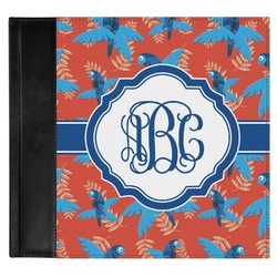 Blue Parrot Genuine Leather Baby Memory Book (Personalized)