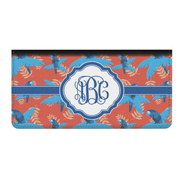 Blue Parrot Genuine Leather Checkbook Cover (Personalized)
