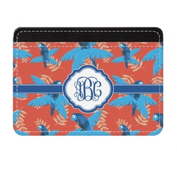 Blue Parrot Genuine Leather Front Pocket Wallet (Personalized)