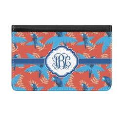 Blue Parrot Genuine Leather ID & Card Wallet - Slim Style (Personalized)
