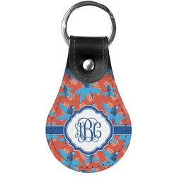 Blue Parrot Genuine Leather  Keychains (Personalized)