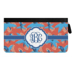 Blue Parrot Genuine Leather Ladies Zippered Wallet (Personalized)