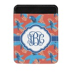 Blue Parrot Genuine Leather Money Clip (Personalized)