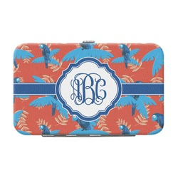 Blue Parrot Genuine Leather Small Framed Wallet (Personalized)