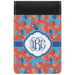 Blue Parrot Genuine Leather Small Memo Pad (Personalized)