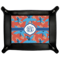 Blue Parrot Genuine Leather Valet Tray (Personalized)