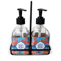 Blue Parrot Soap & Lotion Dispenser Set (Glass) (Personalized)