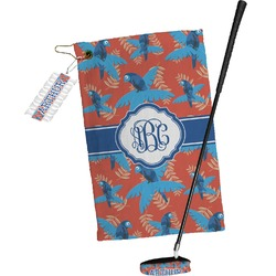 Blue Parrot Golf Towel Gift Set (Personalized)