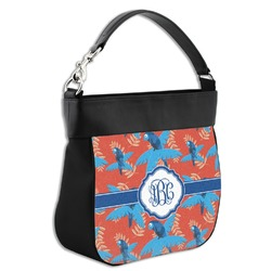 Blue Parrot Hobo Purse w/ Genuine Leather Trim (Personalized)