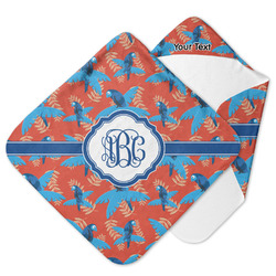 Blue Parrot Hooded Baby Towel (Personalized)