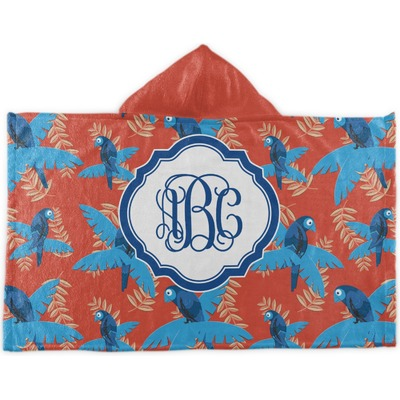 Blue Parrot Kids Hooded Towel (Personalized)