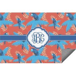 Blue Parrot Indoor / Outdoor Rug (Personalized)