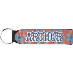 Blue Parrot Neoprene Keychain Fob (Personalized)