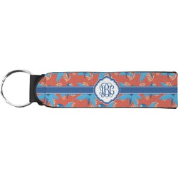 Blue Parrot Keychain Fob (Personalized)