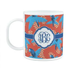 Blue Parrot Plastic Kids Mug (Personalized)