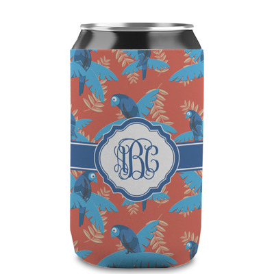 Blue Parrot Can Sleeve (12 oz) (Personalized)