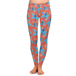 Blue Parrot Ladies Leggings (Personalized)