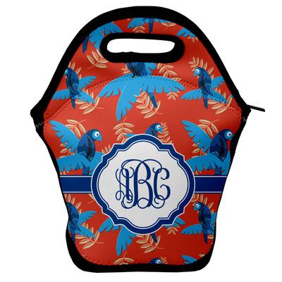 Blue Parrot Lunch Bag w/ Monogram