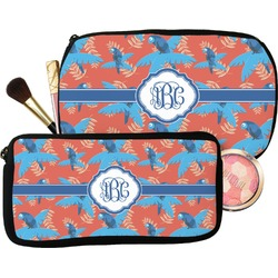 Blue Parrot Makeup / Cosmetic Bag (Personalized)