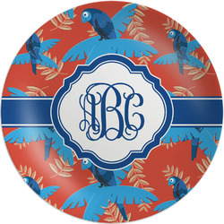 "Blue Parrot Melamine Plate - 8"" (Personalized)"