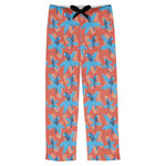 Blue Parrot Mens Pajama Pants (Personalized)