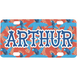 Blue Parrot Mini / Bicycle License Plate (Personalized)