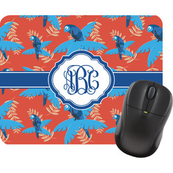 Blue Parrot Mouse Pad (Personalized)